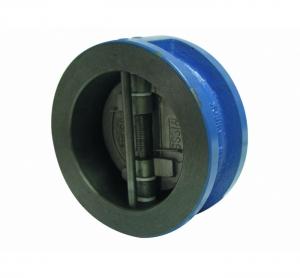 Обратный клапан двухстворчатый межфланцевый корпус-чугун, диск-нерж. сталь