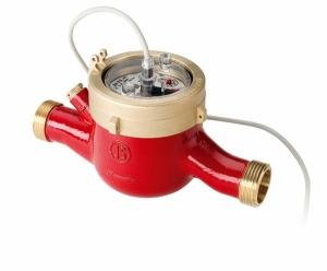 Многоструйный импульсный счетчик горячей воды MTWI-N Ду 32